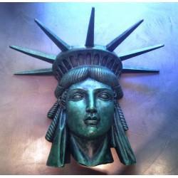 statue mural tete statue de la liberté 3d seco bar diner usa