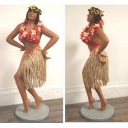 statue géante hula girl hawaii taille réel deco bar diner us