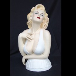 statue buste marilyn monroe 75cm pin up  blonde sexy usa