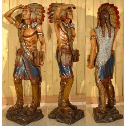 statue géante indien guetteur taille réel deco bar diner usa