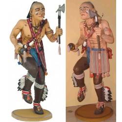 statue géante indien avec une hache taille réel deco bar usa