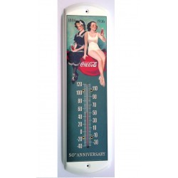 thermometre coca cola pin up 2 femmes style rétro tole metal