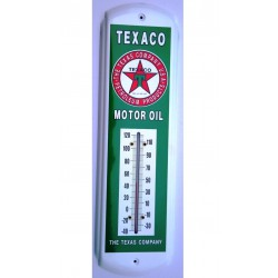thermometre texaco vert texas company tole pub metal usa
