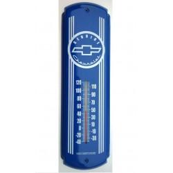 thermometre chevrolet genuine bleu chevy tole deco diner