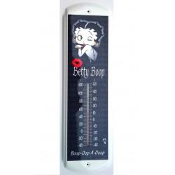 thermometre betty boop noirkiss baiser deco tole metal pub