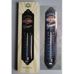 thermometre harley davidson genuine  noir tole deco metal us