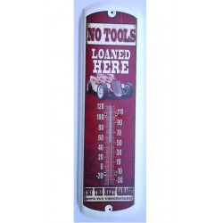 thermometre hot rod blanc a flammes rouge no tools tole