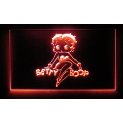 verre publicitaire neon betty boop rouge pinup sexy deco bar