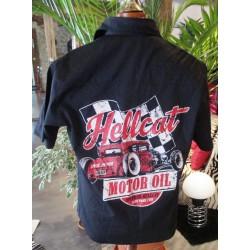 chemise hot rod hellcat motor oil chemisette noir 2xl
