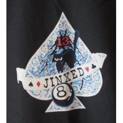 chemise chat et 8 ball noir chemisette homme 3xl rockabilly