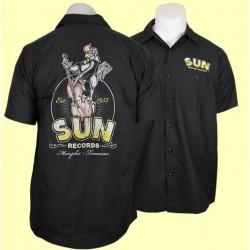 chemise sun record coq et contrebasse chemisette homme 2xl