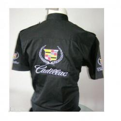 chemise cadillac logo chemisette noire  homme S au 6xl