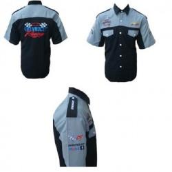 chemise chevrolet racing noir grise chemisette homme S - 6XL