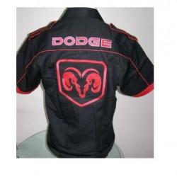chemise dodge noir logo rouge chemisette homme S au 6XL