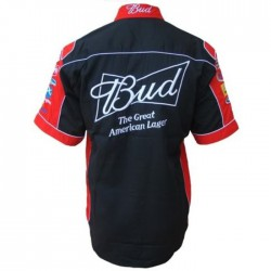 chemise budweiser rouge biere beer chemisette homme S 6xl