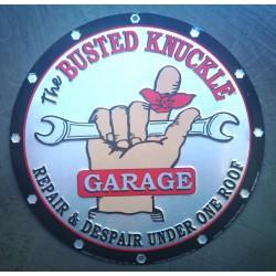 plaque busted garage ronde alu decol loft diner pub usa