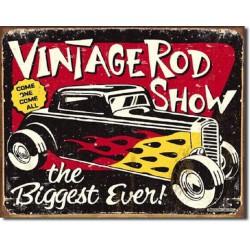 plaque vintage hot rod biggest ford 32 tole publicitaire usa