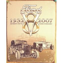 plaque ford 1932 2007 75 th anniversaire tole publicitaire