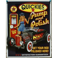 plaque hot rod pompe et pin up quickies pump and polish