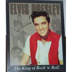 plaque elvis presley the king rock roll habit blanc et rouge