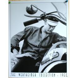 plaque elvis  presley et moto biker tole deco garage loft us