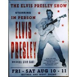 plaque elvis presley affiche de concert tole pub neuve rock