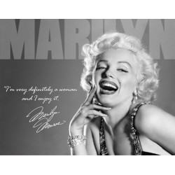 plaque marilyn monroe  qui rit i'm a woman tole pub affiche