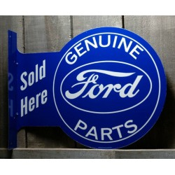 plaque ford double face genuine parts sold here tole metal