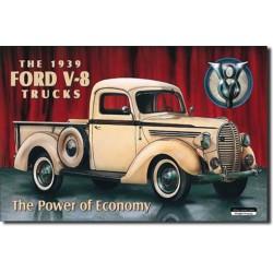 plaque ford v8 truck pick up deco usa tole pub garage