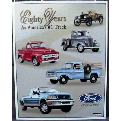 plaque ford pick up eighty years pick up truck tole deco usa