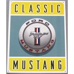plaque ford mustang logo classic tole deco loft diner bar