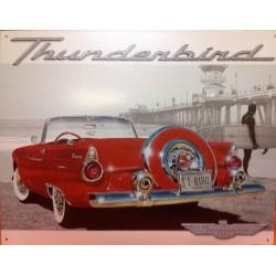 plaque ford thunderbird cabriolet rouge tole publicitaire us