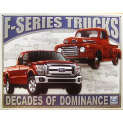 plaque ford pick up F series truck tole deco americaine usa