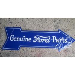 plaque ford fleche bleu grosse déco garage pub diner usa