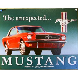 plaque ford mustang rouge unexpected deco tole garage usa
