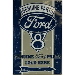 plaque ford v8 vieillit genuine parts deco tole usa loft bar