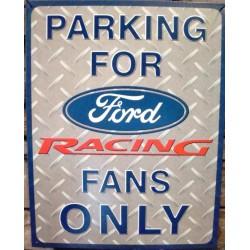 plaque ford racing tole plate deco garage loft usa bar diner