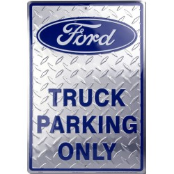 plaque ford truck parking alus strie deco tole affiche  loft