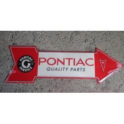 plaque fleche pontiac quality parts grosse tole déco garage