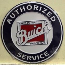 plaque buick ronde logo carré à l'interieur deco garage usa