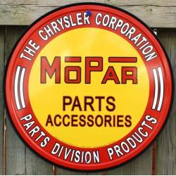 plaque mopar ronde parts & accessories deco garage usa