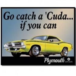 plaque plymouth catch a cud if you can tole usa pub gaage
