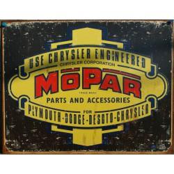 plaque mopar vieux logo tole deco garage buick chrysler dodg