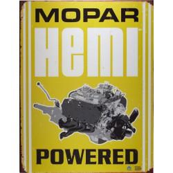plaque moteur mopar hémi powered tole pub garage usa loft
