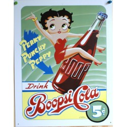plaque betty boop boopsy cola tole deco pin up sexy usa