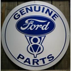 plaque ford v8 genuine parts  60cm tole deco garage usa loft
