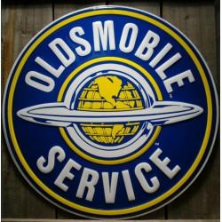 plaque oldsmobile service 60cm tole deco bar diner garage us