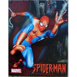 plaque super hero spiderman en plein vol affiche tole usa