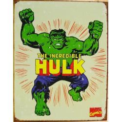 plaque super hero hulk l'incroyable homme vert  tole affiche