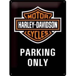 plaque harley davidson parking only logo bar shield tole bik
